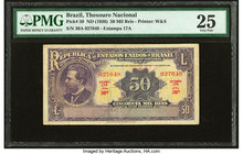 Brazil Thesouro Nacional 50 Mil Reis ND (1936) Pick 59 PMG Very Fine 25.   HID09801242017