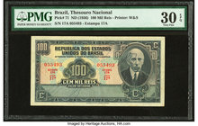 Brazil Thesouro Nacional 100 Mil Reis ND (1936) Pick 71 PMG Very Fine 30 EPQ.   HID09801242017