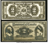 Canada Dominion of Canada $2 1913 DC-22 Face and Back Photo Proofs About Uncirculated or Better.   HID09801242017