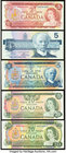 Canada Bank of Canada Group Lot of 5 Examples from the 1969-1986 Issues Crisp Uncirculated.   HID09801242017