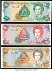 Cayman Islands Currency Board 5; 10; 25 Dollars 1996 Pick 17; 18; 19 Three Examples Crisp Uncirculated.   HID09801242017