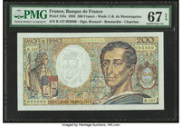 France Banque de France 200 Francs 1922 Pick 155e PMG Superb Gem Unc 67 EPQ.   HID09801242017