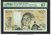 France Banque de France 500 Francs 2.3.1989 Pick 156g PMG Superb Gem Unc 67 EPQ.   HID09801242017