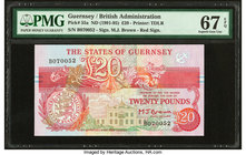 Guernsey States of Guernsey 20 Pounds ND (1991-95) Pick 55a PMG Superb Gem Unc 67 EPQ.   HID09801242017