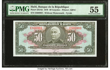Haiti Banque de la Republique d'Haiti 50 Gourdes 1979 Pick 235Ab PMG About Uncirculated 55.   HID09801242017