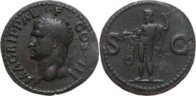 Roman Empire, Agrippa before 12 AD, posthumous issue by Caligula (37-41), As, Rome