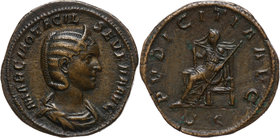 Roman Empire, Otacilia Severa 244-249 (wife of Philip the Arab), Sestertius, Rome