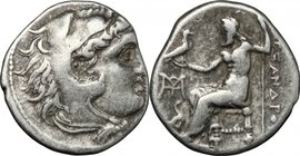 "Continental Greece. Kings of Macedon. Alexander III ""the Great"" (336-323 BC). AR Drachm, Uncertain mint in Asia Minor, 323-208 BC. D/ Head of Heracles..."