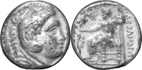 Continental Greece. Kings of Macedon. Demetrios I Poliorketes (306-283 BC). AR Tetradrachm, Corinth mint, 304-290 BC. D/ Head of Heracles right, weari...