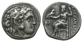 "Kings of Macedon. Alexander III ""the Great"" 336-323 BC.   Condition: Very Fine  Weight: 4.16gr Diameter: 16.12mm"
