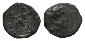 "Kings of Macedon. Alexander III ""the Great"" 336-323 BC. Ar Obol  Condition: Very Fine  Weight: 0.65gr Diameter: 9.14mm"