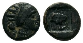 Caria. Rhodos 188-84 BC.  Condition: Very Fine  Weight: 1.50gr Diameter: 11.21mm  From a Private DUTCH Collection.
