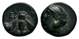 Ephesos, Ionia. ca 305-288 BC. AE Bronze  Condition: Very Fine  Weight: 1.32gr Diameter: 10.10mm  From a Private DUTCH Collection.