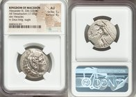 MACEDONIAN KINGDOM. Alexander III the Great (336-323 BC). AR tetradrachm (26mm, 17.04 gm, 5h). NGC AU 5/5 - 4/5. Late lifetime or early posthumous iss...