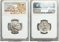 MACEDONIAN KINGDOM. Alexander III the Great (336-323 BC). AR tetradrachm (25mm, 12h). NGC XF. Early posthumous issue of 'Amphipolis', by Antipater, un...