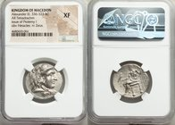 MACEDONIAN KINGDOM. Alexander III the Great (336-323 BC). AR tetradrachm (26mm, 11h). NGC XF. Late lifetime-early posthumous issue of Aradus, ca. 330-...