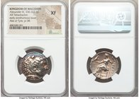 MACEDONIAN KINGDOM. Alexander III the Great (336-323 BC). AR tetradrachm (26mm, 1h). NGC XF. Posthumous issue of Ake or Tyre, dated Regnal Year 38 of ...