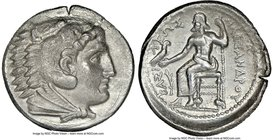 MACEDONIAN KINGDOM. Alexander III the Great (336-323 BC). AR tetradrachm (27mm, 9h). NGC Choice VF. Early posthumous issue of 'Amphipolis', ca. 323-32...