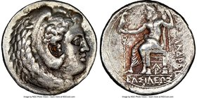 MACEDONIAN KINGDOM. Alexander III the Great (336-323 BC). AR tetradrachm (26mm, 6h). NGC VF. Late lifetime-early posthumous issue of Aradus, ca. 328-3...