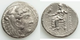 MACEDONIAN KINGDOM. Alexander III the Great (336-323 BC). AR tetradrachm (26mm, 16.65 gm, 1h). XF, porosity. Lifetime issue of Sidon, ca. 332-332 BC. ...