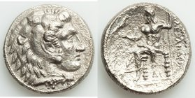 MACEDONIAN KINGDOM. Alexander III the Great (336-323 BC). AR tetradrachm (26mm, 16.11 gm, 3h). XF, porosity. Late lifetime to early posthumous issue o...