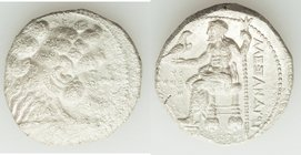 MACEDONIAN KINGDOM. Alexander III the Great (336-323 BC). AR tetradrachm (26mm, 16.32 gm, 4h). XF, brushed. Early posthumous issue of Tyre, dated Regn...