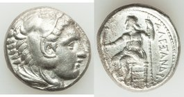MACEDONIAN KINGDOM. Alexander III the Great (336-323 BC). AR tetradrachm (24mm, 16.82 gm, 2h). VF. Early posthumous issue of 'Amphipolis', by Antipate...