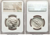 THRACIAN ISLANDS. Thasos. Ca. 2nd-1st centuries BC. AR tetradrachm (32mm, 16.81 gm, 10h). NGC AU 5/5 - 3/5. Ca. 148-90/80 BC. Head of Dionysus right, ...
