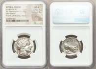 ATTICA. Athens. Ca. 440-404 BC. AR tetradrachm (25mm, 17.16 gm, 9h). NGC MS S 5/5 - 4/5, scuffs. Mid-mass coinage issue. Head of Athena right, wearing...