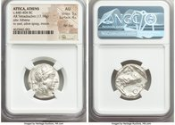 ATTICA. Athens. Ca. 440-404 BC. AR tetradrachm (24mm, 17.18 gm, 1h). NGC AU 5/5 - 4/5, flan flaw. Mid-mass coinage issue. Head of Athena right, wearin...