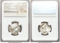 ATTICA. Athens. Ca. 440-404 BC. AR tetradrachm (23mm, 17.19 gm, 10h). NGC AU 4/5 - 4/5. Mid-mass coinage issue. Head of Athena right, wearing crested ...