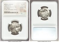 ATTICA. Athens. Ca. 440-404 BC. AR tetradrachm (24mm, 17.19 gm, 7h). NGC Choice XF 4/5 - 3/5. Mid-mass coinage issue. Head of Athena right, wearing cr...