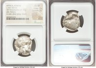 ATTICA. Athens. Ca. 440-404 BC. AR tetradrachm (24mm, 17.17 gm, 7h). NGC Choice XF 2/5 - 3/5. Mid-mass coinage issue. Head of Athena right, wearing cr...