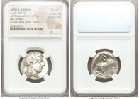 ATTICA. Athens. Ca. 440-404 BC. AR tetradrachm (24mm, 17.17 gm, 1h). NGC Choice VF 4/5 - 4/5. Mid-mass coinage issue. Head of Athena right, wearing cr...