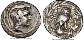 ATTICA. Athens. Ca. 2nd-1st centuries BC. AR drachm (19mm, 11h). NGC Choice Fine, brushed. New style coinage, ca. 132/1 BC, Do, Cha- and Dio-, magistr...