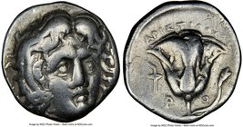 CARIAN ISLANDS. Rhodes. Ca. 275-250 BC. AR drachm (15mm, 12h). NGC Choice Fine. Aristoloxus, magistrate. Head of Helios facing, turned slightly right ...