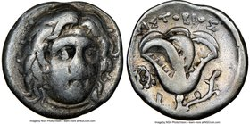 CARIAN ISLANDS. Rhodes. Ca. 275-250 BC. AR drachm (15mm, 12h). NGC Fine. Aristobius, magistrate. Head of Helios facing, turned slightly right / APIΣTO...