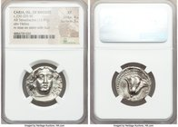CARIAN ISLANDS. Rhodes. Ca. 230-205 BC. AR tetradrachm (24mm, 13.47 gm, 1h). NGC XF 4/5 - 3/5. Ca. mid-late 220s BC, Aristocritus, magistrate. Radiate...