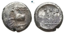 Thrace. Byzantion 387-340 BC. Hemidrachm AR