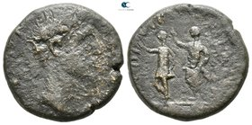 Macedon. Philippi. Augustus, with Divus Julius Caesar 27 BC-AD 14. Bronze Æ