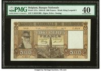 Belgium Nationale Bank Van Belgie 500 Francs 26.12.1944 Pick 127a PMG Extremely Fine 40.   HID09801242017