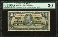 Canada Bank of Canada $20 2.1.1937 BC-25a PMG Very Fine 20. Annotation.  HID09801242017