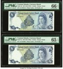 Cayman Islands Currency Board 1 Dollar 1971 (ND 1972); 1974 (ND 1985)(4) Pick 1b; 5c; 5d; 5e; 5f Five Examples PMG Gem Uncirculated 66 EPQ (2); Gem Un...
