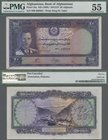 Afghanistan: Bank of Afghanistan 20 Afghanis SH1318 (1939), P.24a with pen cancellation and annotations and stamp on back, PMG graded 55 About Uncircu...
