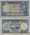 Afghanistan: 50 Afghanis SH1318 (1939), P.25a, lightly toned paper, small margin splits. Condition: F