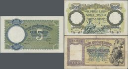 Albania: 5, 20 and 100 Franga ND(1939-40), P.6, 7, 8 in VF/F/F- condition. (3 pcs.)