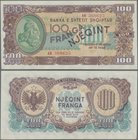 Albania: 100 Franga 1945, P.17 in perfect UNC condition.