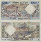 Algeria: 100 Nouveaux Francs 1961, P.121b, still nice with strong paper and bright colors, some pinholes and tiny border tears. Condition: F+