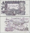 Algeria: 500 Dinars 1970, P.129a, unfolded and almost perfect condition, just some pinholes at left and right. Condition: XF/XF+