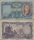 Angola: 100 Angolares 1946, P.81, rusty spots from a paper clip, some folds. Condition: F/F+. Very Rare!